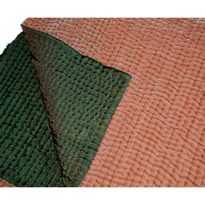 quiltet sengetæppe Quiltet silkevelour sengetæppe kopper/orange 275/270 cm   Floor45 quiltet sengetæppe