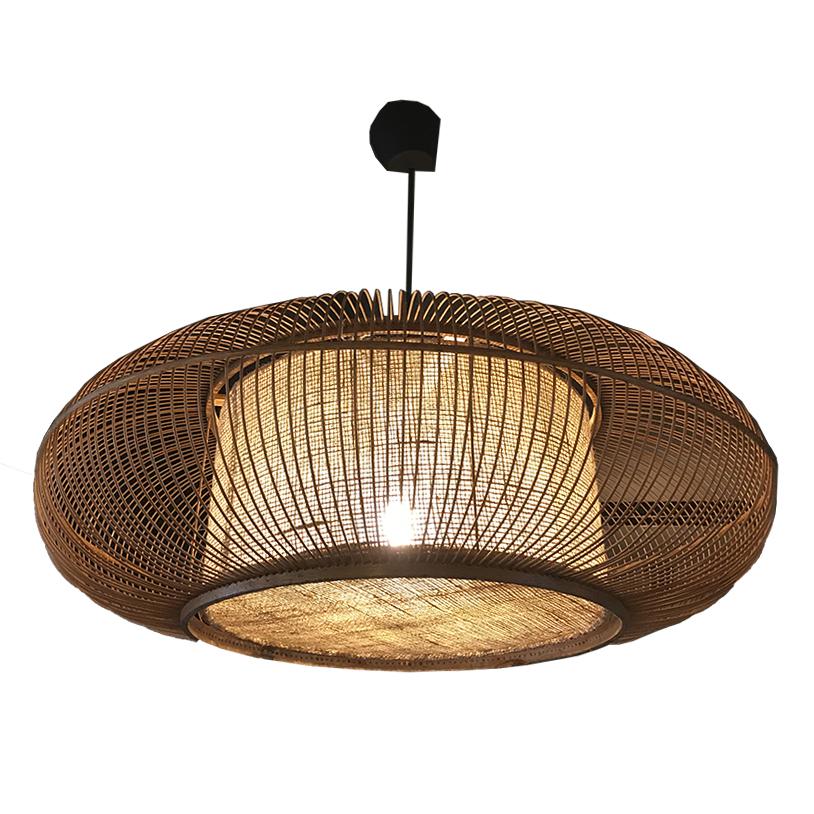 Bambus Lampe B 70 H 26 Cm Floor45